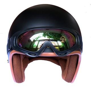 Hình ảnh Mũ bảo hiểm NTMAX 3/4 đen nhám (nhiều màu) cao cấp chuẩn quatest 4-8