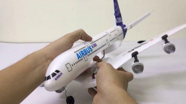 Máy bay cánh bằng a380 airbus- 3 kênh có servo bẻ lái
