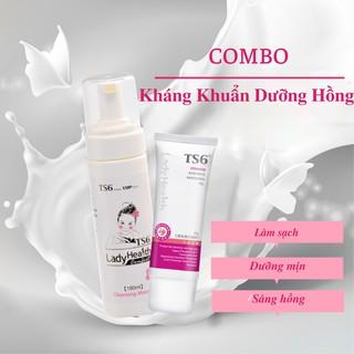 Combo dung dịch vệ sinh cao cấp TS6 180ml + Gel dưỡng hồng cô bé TS6 thumbnail