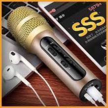 ⚡Giá Rẻ⚡MIC LIVESTREAM KARAOKE C11 hỗ trợ thu âm Kèm đầy đủ phụ kiện - Bảo hành 3 tháng