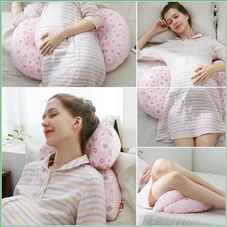 [LIKADO] Gối bà bầu giúp ngủ ngon giảm đau lưng thai kỳ vải 100% cotton, ruột bông nhân tạo thumbnail