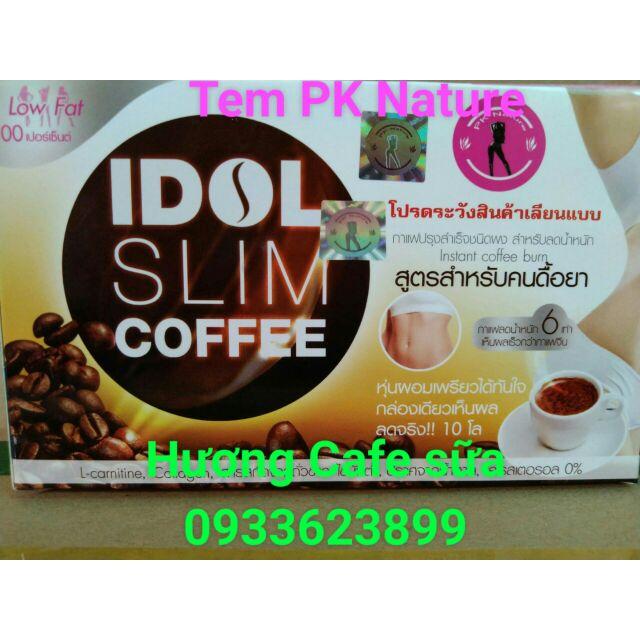 (CHUẨN THÁI) COMBO 3 hộp GIẢM CÂN IDOL SLIM COFFEE (hương cafe sữa). Sai đền 10 triệu.