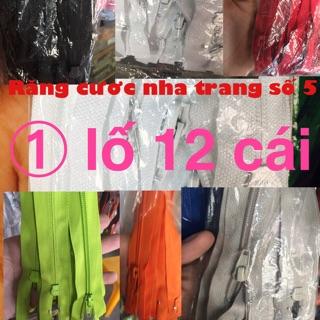 12 chiếc dây kéo nhựa cước răng#5,chiều dài 70cm HKK