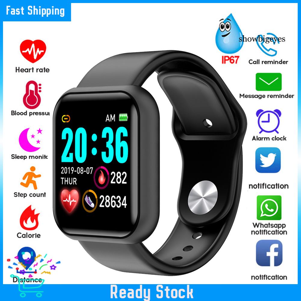 Đồng Hồ Đeo Tay Thông Minh Chống Nước Sh-C Y68 Đo Nhịp Tim Huyết Áp Cho Ios Android