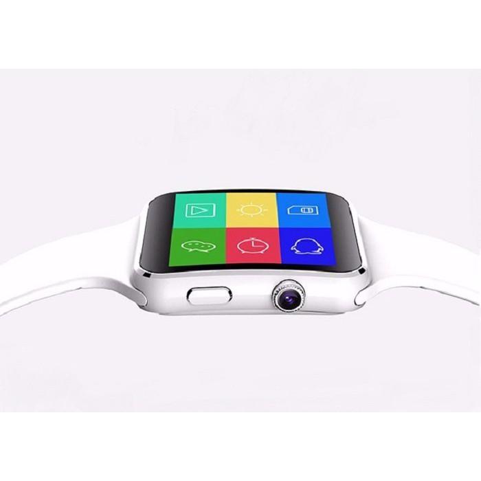 Đồng hồ SmartWatch_X6 màn hình cong trắng