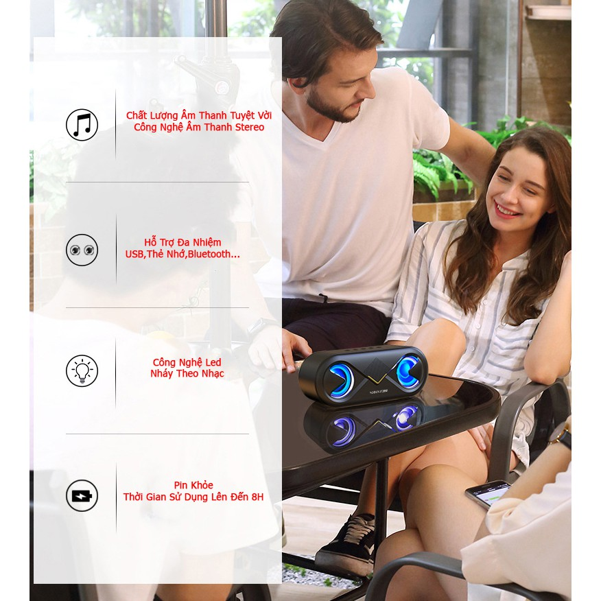 Loa blutooth không dây, loa bluetooth mini cáo cấp kết hợp thẻ nhớ và usb - bảo hành 1 năm.