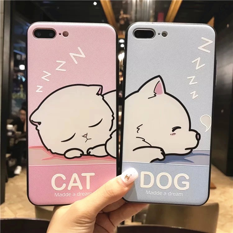 Ốp Silicon Dog & Cat 3D