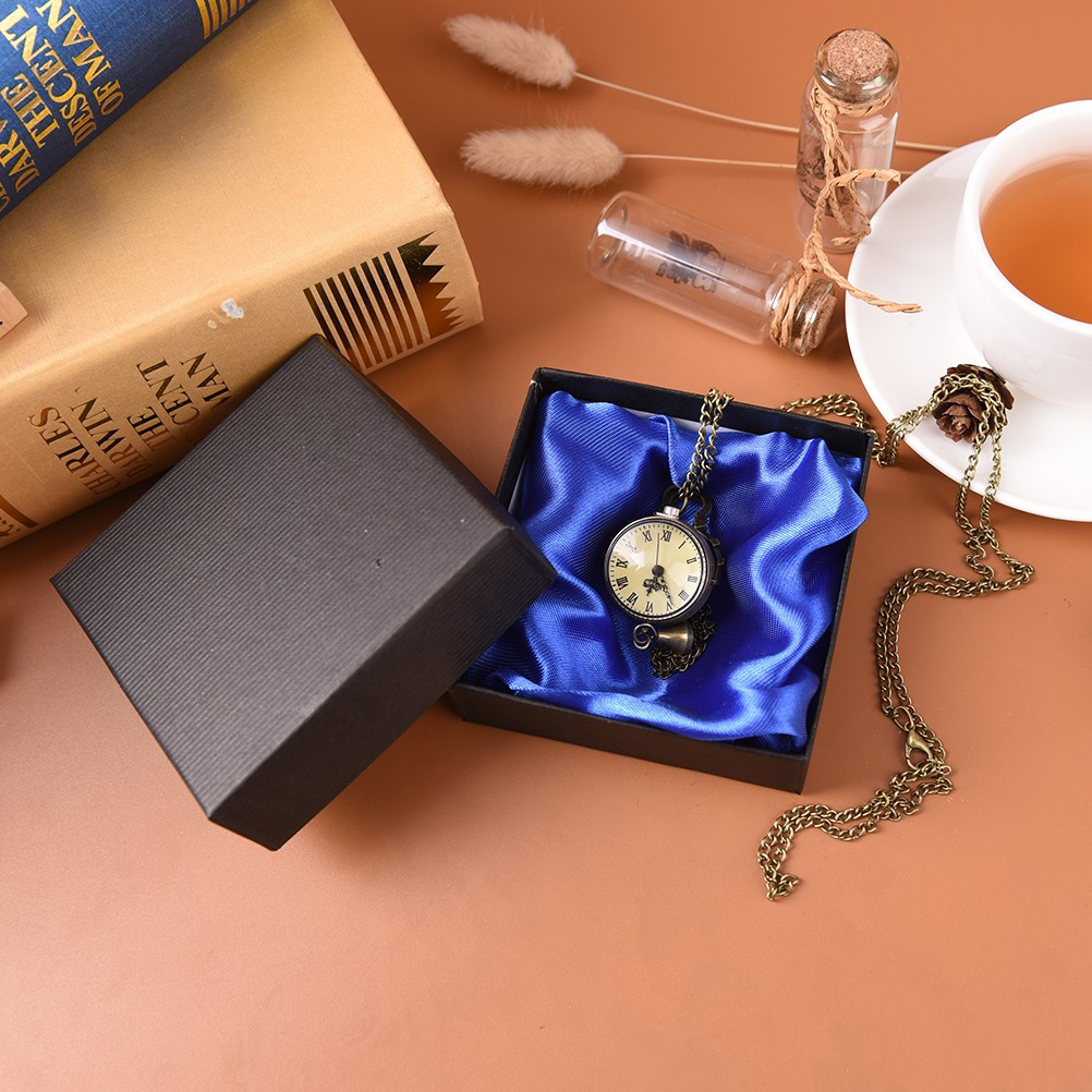OZVN 1pc Cardboard Present Gift Box Case for Jewelry Ring Earrings Wrist Watch spur