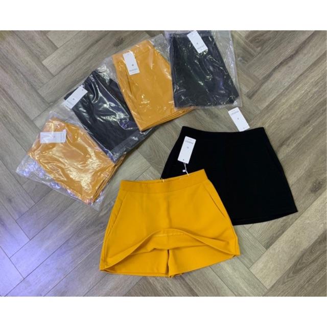 BÁN SỈ QUẦN VÁY A - 2 màu đen và vàng