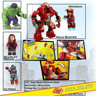 Lego Xếp Hình IRON MAN DECOOL.7110 / 248 Mảnh Ghép