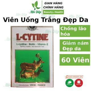 Vitamin e - Viên uống trắng da CHÍNH HÃNG L Cytine giúp đẹp da chống lão hóa, tóc chắc khỏe hạn chế gẫy rụng thumbnail
