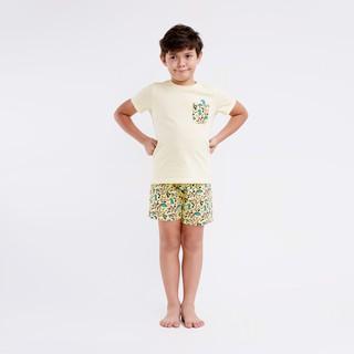 Bộ quần áo ngắn tay M.D.K Bé Trai - Light Yellow M.D.K