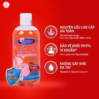 [Hàng có sẵn] Sữa tắm mịn da diệt khuẩn 99.9% AVATAR 500ml - Hương hoa Anh Đào - Công nghệ và chất lượng Nhật Bản thumbnail