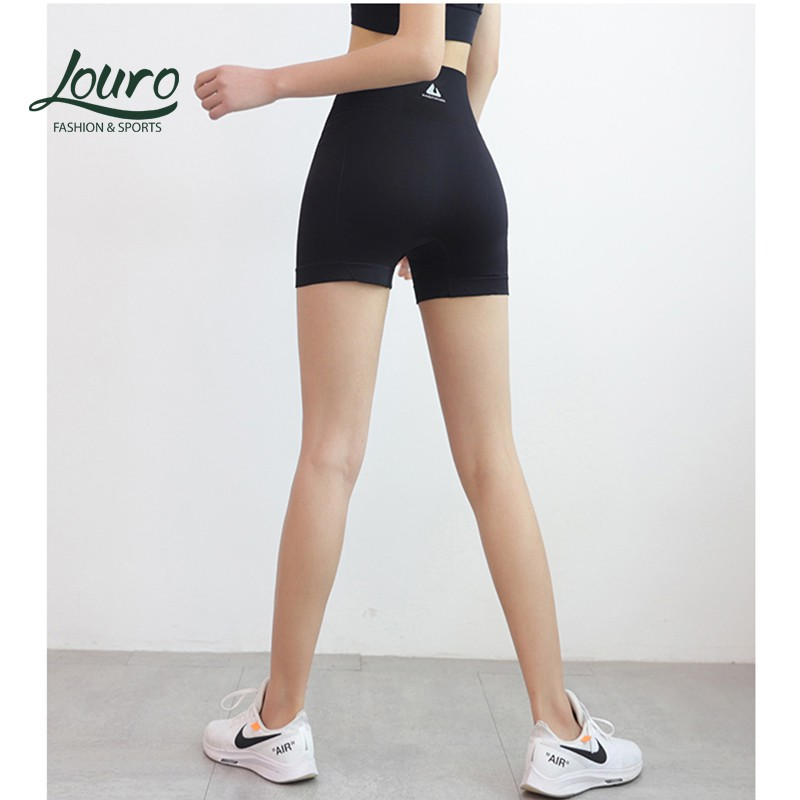 Mặc gì đẹp: Thoáng mát với Quần tập nâng mông nữ Louro QF3 ✨CÓ ẢNH THẬT✨,thông thoáng, co giãn 4 chiều, kiểu quần short nữ tập yoga, zumba