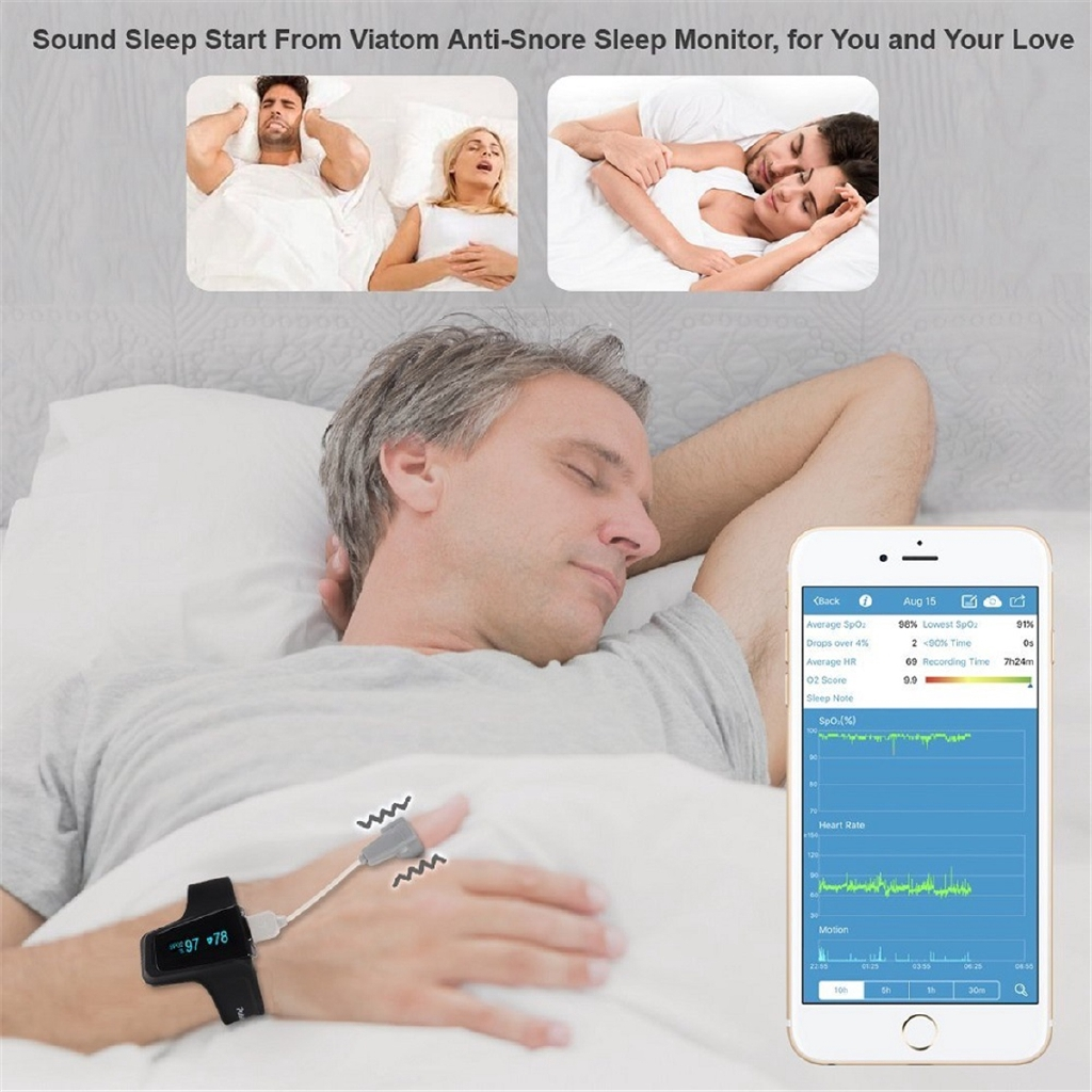 ⌘⌘ Sleep Oxygen Monitor Wrist Pulse Oximeter With