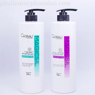 dầu gội và xả Ceorali Magicsil phục hồi tóc chuyên sâu Hàng Chính Hãng thumbnail