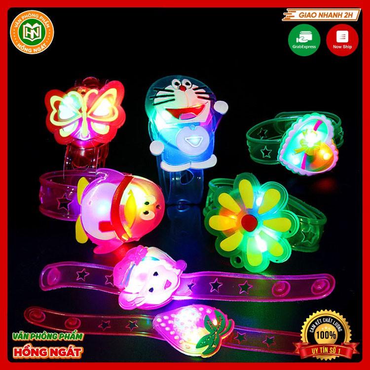 Đồ chơi trẻ em vòng tay hoạt hình phát sáng có đèn led bằng nhựa dùng làm quà tặng cho bé từ 2 tuổi