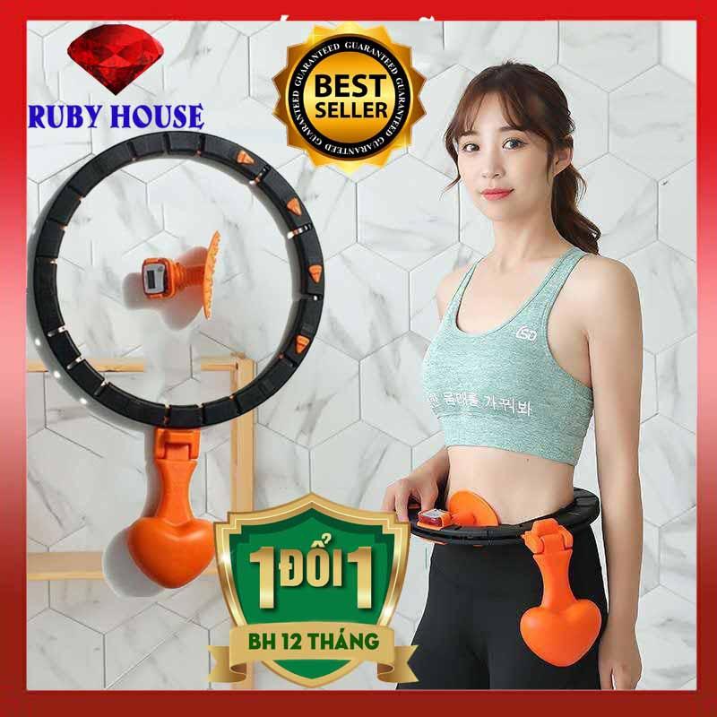 Vòng lắc eo Hula CHÍNH HÃNG thông minh hiệu quả gấp 3 lần, có đồng hồ đo,vòng đánh mỡ bụng HOT nhất 2020-Ruby House