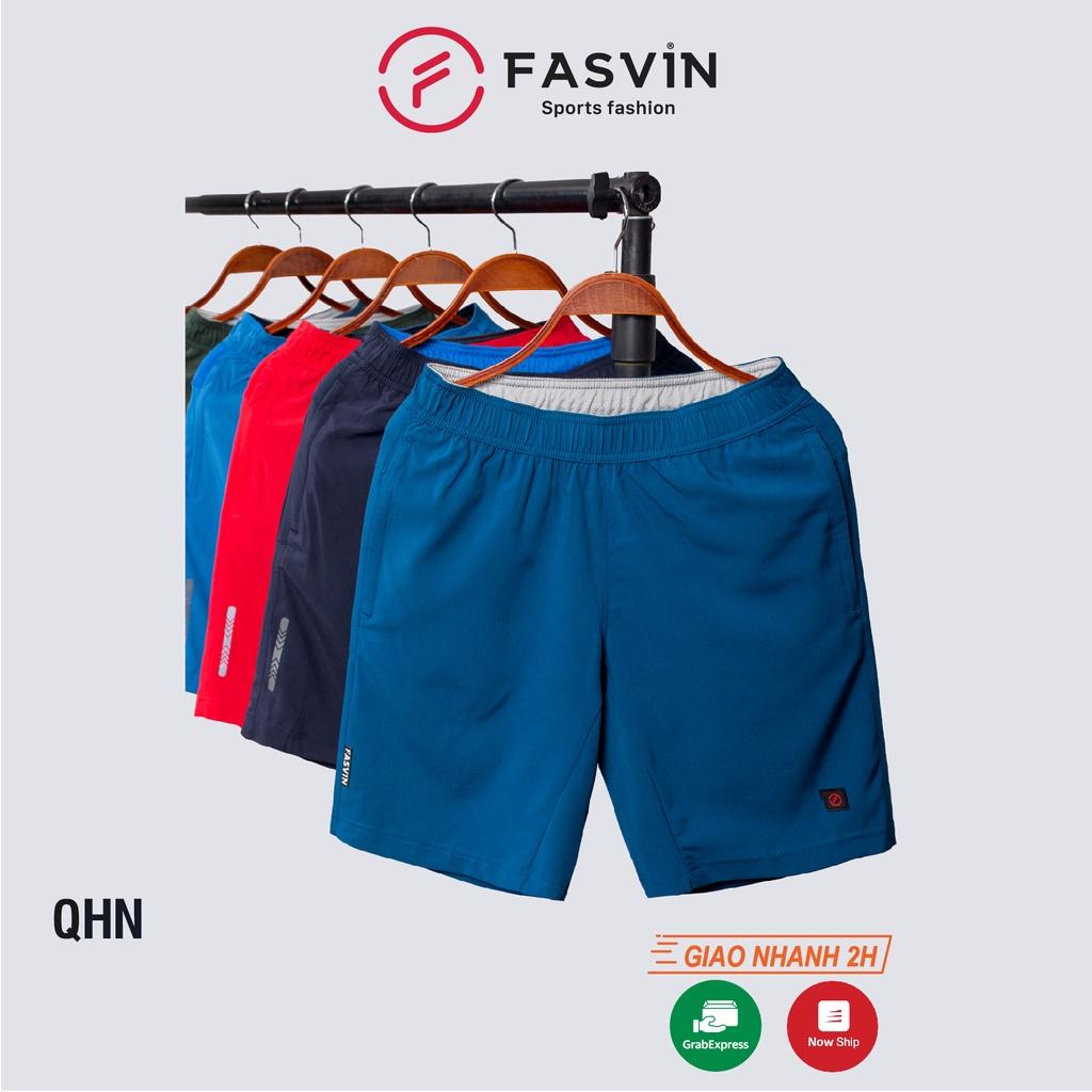 Quần đùi nam FASVIN vải dù gió co giãn nhẹ mát có khóa túi tiện dụng thể thao hay mặc nhà QHN