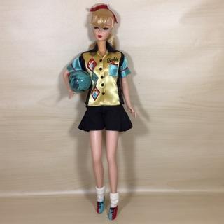 Búp bê Barbie repro bowling đã qua sử dụng
