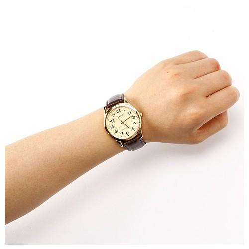 Đồng hồ nam dây da Casio Standard chính hãng Anh Khuê MTP-V001GL-9BUDF
