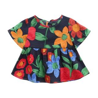 Đầm Sanlutoz Họa Tiết Hoa Làm Bằng Cotton Dành Cho Bé Vào Mùa Hè thumbnail