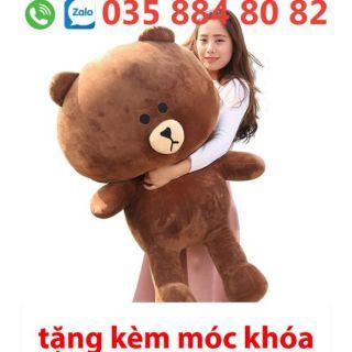 Gấu bông brown khổ 1m2 thumbnail