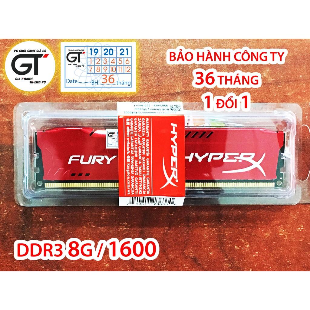 Ram Kingston HyperX Fury 8GB DDR3 Bus 1600Mhz