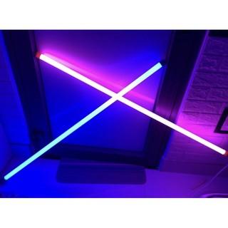 combo 2 đèn xanh+ hồng 1m2 nối dây điện dài 1 và 2m
