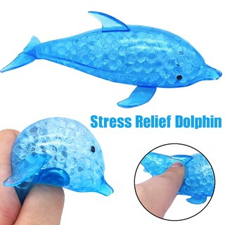 Spongy Dolphin Bead Stress Ball Toy Squeezable Squishies Toy Stress Relief Toy