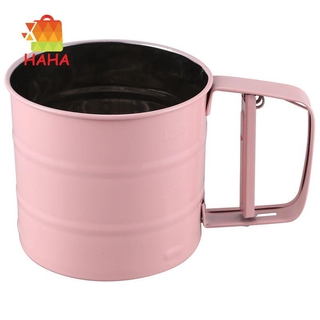 Stainless Steel Flour Sifter Handheld Powder Flour Sieve Icing Cup#HAVN