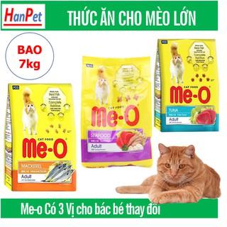 Bao lớn 7kg ME-O 350gr (Thức ăn viên cho mèo lớ) hanpet đồ ăn mèo trưởng thành dạng hạt thumbnail