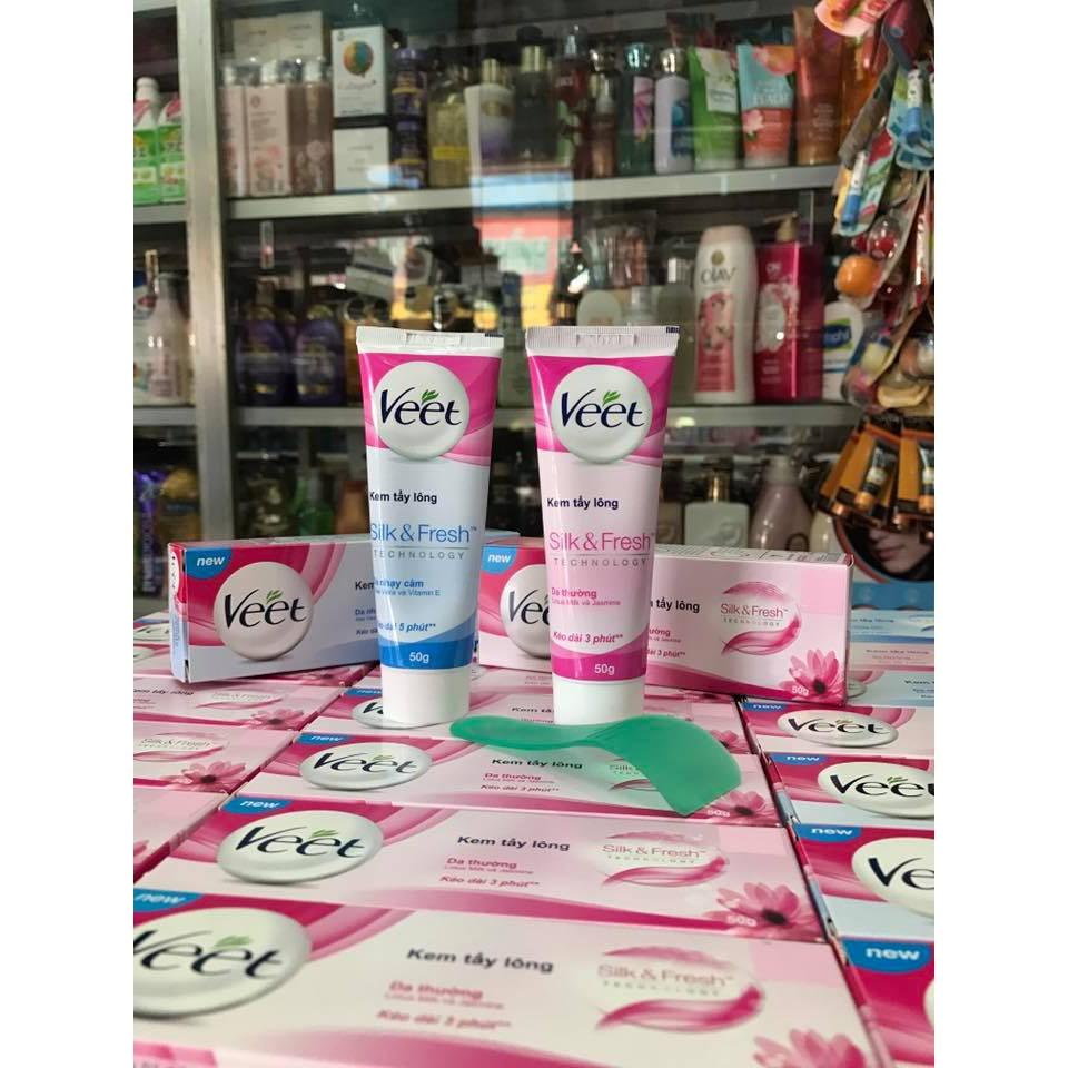 Kem Tẩy Lông Dành Cho Da Thường Và Da Nhạy Cảm VEET Silk & Fresh Sensitive Tuýp 50g - 3310231 , 449181462 , 322_449181462 , 69000 , Kem-Tay-Long-Danh-Cho-Da-Thuong-Va-Da-Nhay-Cam-VEET-Silk-Fresh-Sensitive-Tuyp-50g-322_449181462 , shopee.vn , Kem Tẩy Lông Dành Cho Da Thường Và Da Nhạy Cảm VEET Silk & Fresh Sensitive Tuýp 50g