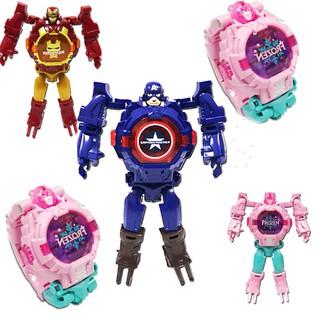 Đồng hồ đeo tay biến hình robot có đèn và nhạc cho bé thumbnail