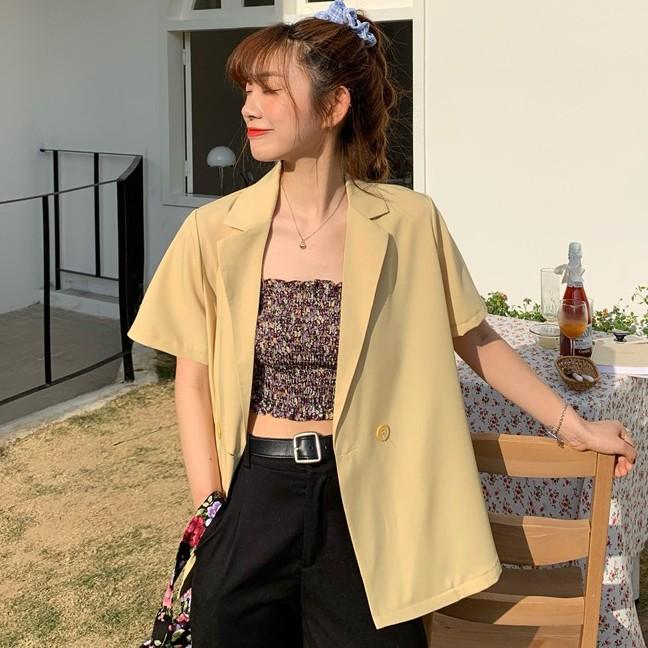 Áo Khoác Mỏng Tay Ngắn Kiểu Hàn Quốc Thời Trang Mùa Hè Năng Động