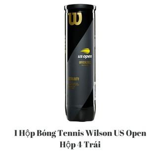 Banh Tennis Wilson US Open 4, Bóng Tennis Wilson US Open, Bóng Wilson Đen 4 1 Hộp 4 Trái
