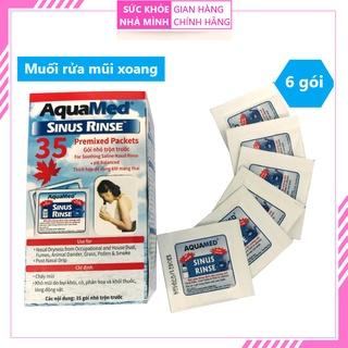 [6 gói] Muối pha rửa mũi xoang Aquamed - Vệ sinh mũi xoang thumbnail
