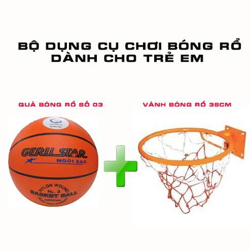 Bộ sản phẩm bóng rổ dành cho trẻ em