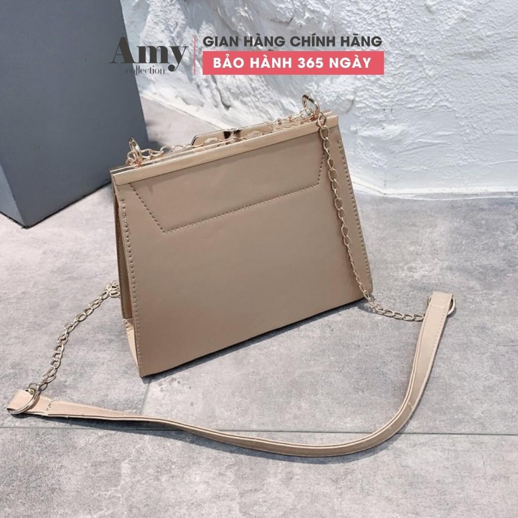 Túi xách nữ dáng vuông dây xích khóa nút TX00607 TX798