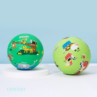 Toy Kids Cartoon Basketball + Inflator Set Training Toy Kids Kindergarten Nursery School