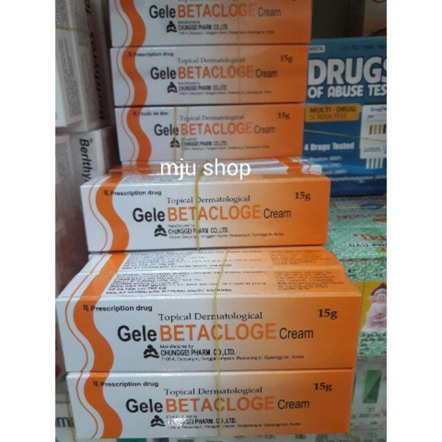 Kem bôi da Gele Betacloge Cream 15g - Trị viêm da, nhiễm nấm, nhiễm khuẩn. - 2908186 , 707451554 , 322_707451554 , 25000 , Kem-boi-da-Gele-Betacloge-Cream-15g-Tri-viem-da-nhiem-nam-nhiem-khuan.-322_707451554 , shopee.vn , Kem bôi da Gele Betacloge Cream 15g - Trị viêm da, nhiễm nấm, nhiễm khuẩn.