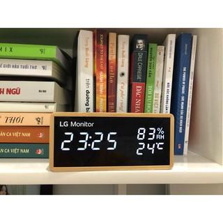 Đồng hồ LED để bàn trang trí, đo nhiệt độ và báo thức