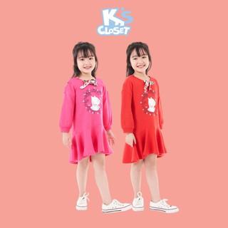 Váy Dài Tay Bé Gái (2-9 Tuổi) K's Closet E108TEF