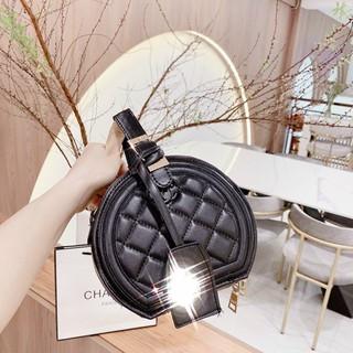 Túi tròn mini túi tròn đeo chéo nữ chần ô thời trang TRONCHANO01 + hình thật