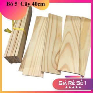 (Bó 5 thanh) Gỗ thông Pallet dài 40cm, rộng 9.5cm, dày 1,4cm bào láng 4 mặt