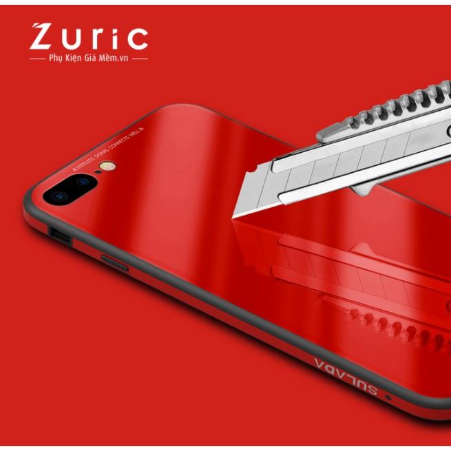 ốp lưng kính viền dẻo cho IPhone 8 plus hiệu sulada xịn chính hãng