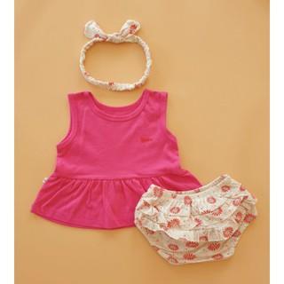 {Mẫu mới} Set Babydoll hãng Bunny Baby (kèm turban) cho bé từ 4 – 10kg