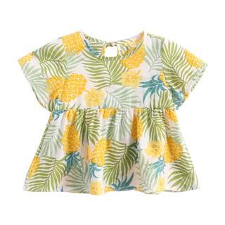 Đầm Sanlutoz bằng cotton họa tiết dứa cho bé gái thumbnail