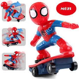 Đồ chơi spiderman có đèn nhạc, ĐỒ CHƠI NGƯỜI NHỆN DÙNG PIN PHÁT NHẠC (KÈM PIN)