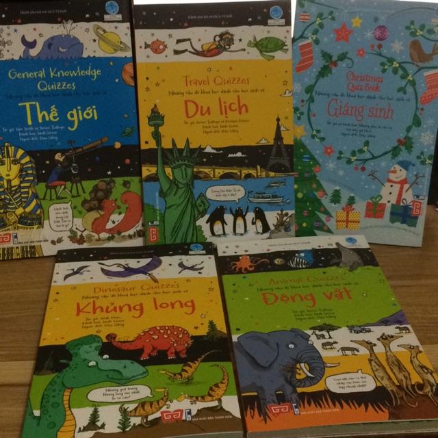 Sách - combo 5 cuốn sách những câu đố khoa học dành cho học sinh
